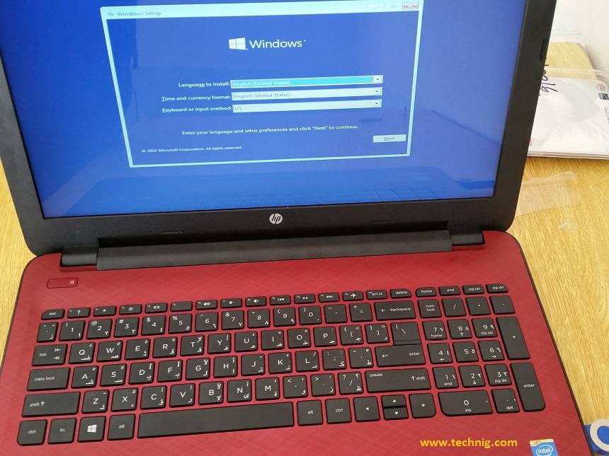 Installing Windows 10 using USB