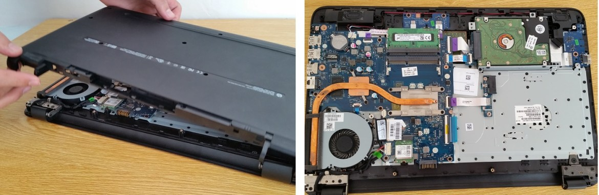 Remove the Back Panel of Laptop