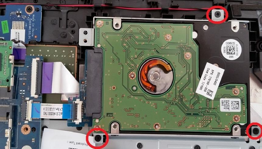 Unscrew Laptop Hard Disk