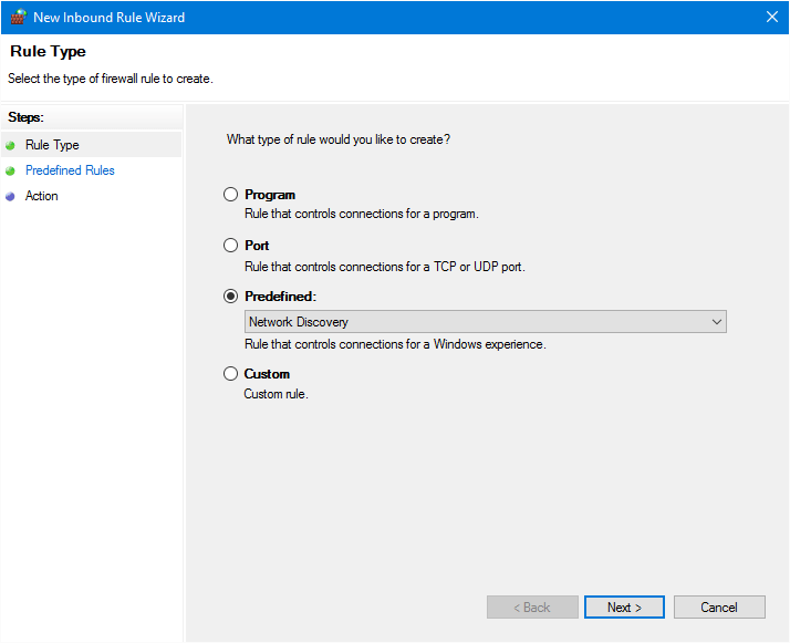 Windows Firewall - Network Discovery Rules
