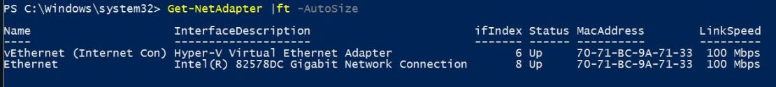 Find Network Adapters with PowerShell