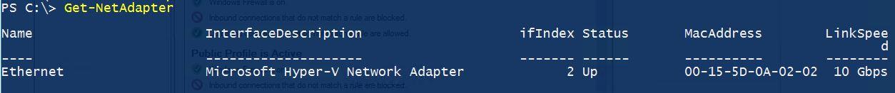 windows 10 change network name powershell
