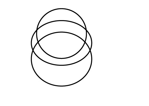 Three Ellipse to design Linux Logo