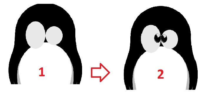 Linux Eyes - Design Linux Logo