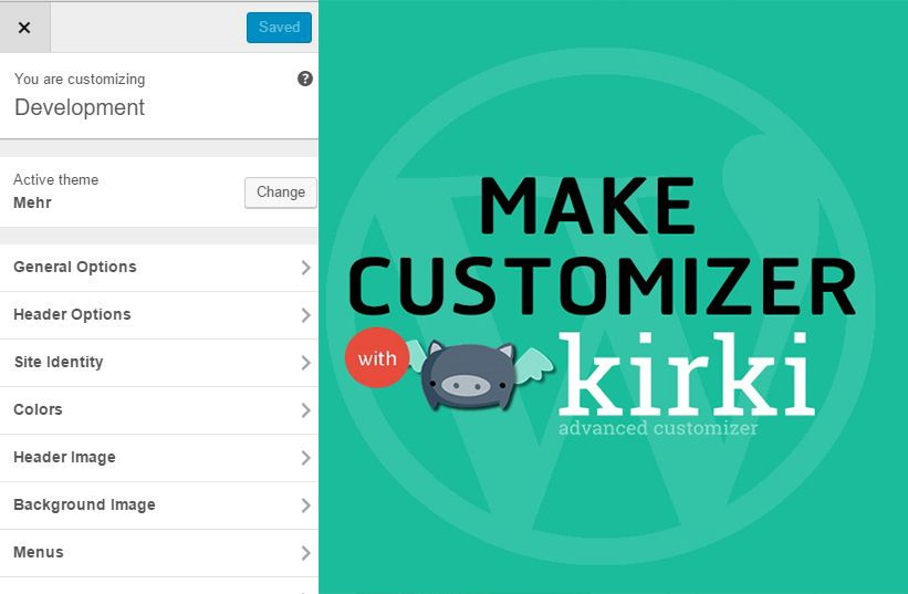 Kirki WordPress Theme Customizer - Technig