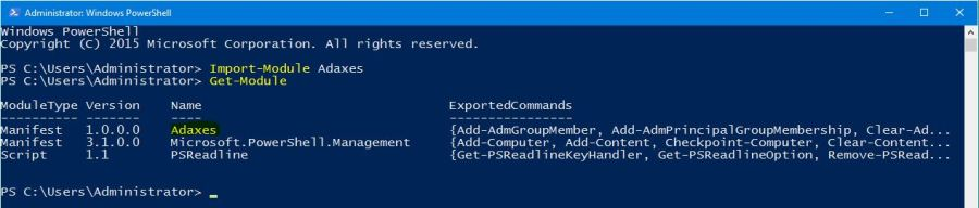 Adaxes PowerShell CmdLets - Active Directory auto Management