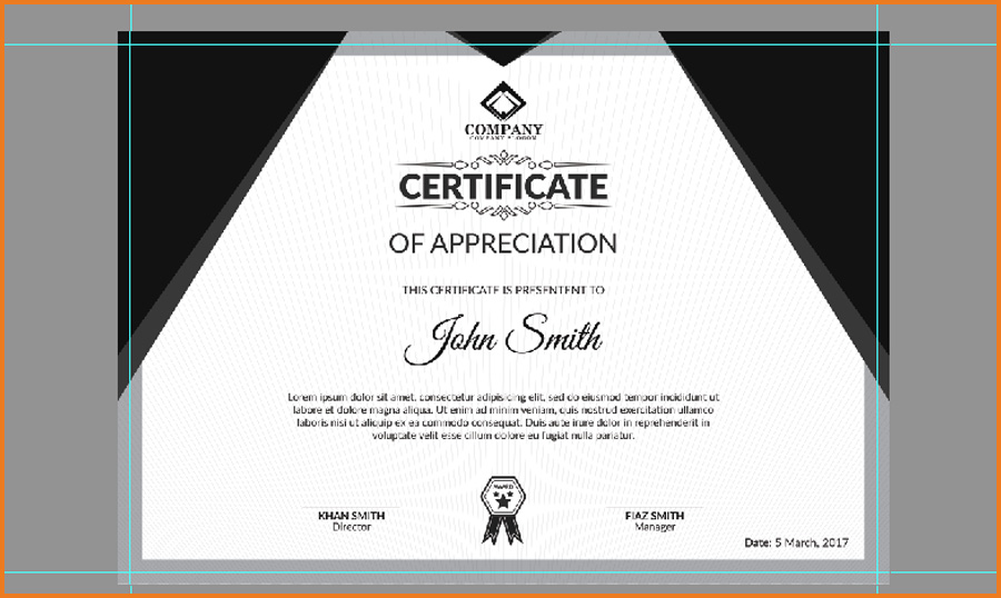 How to design professional and modern certificate using photoshop final design certificate design technig altavistaventures Image collections