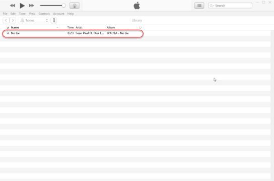 iTunes - Drag or Open Ringtone