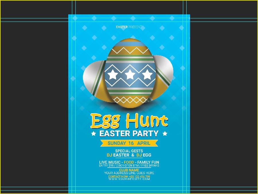 Design Easter Event Flyer Using Photoshop - Technig