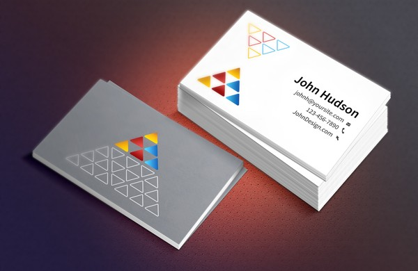 Free PSD Business Card Mockups - Technig