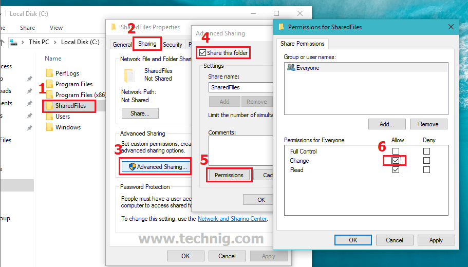 How to Share a Folder in Windows 10 - Technig
