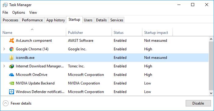 Remove Virus from Windows Startup
