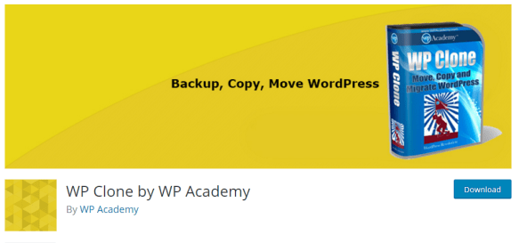 WP Clone by WP Academy - Best WordPress Cloning plugins