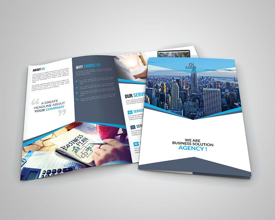 How To Create Business Bi Fold Brochure In Photoshop Technig
