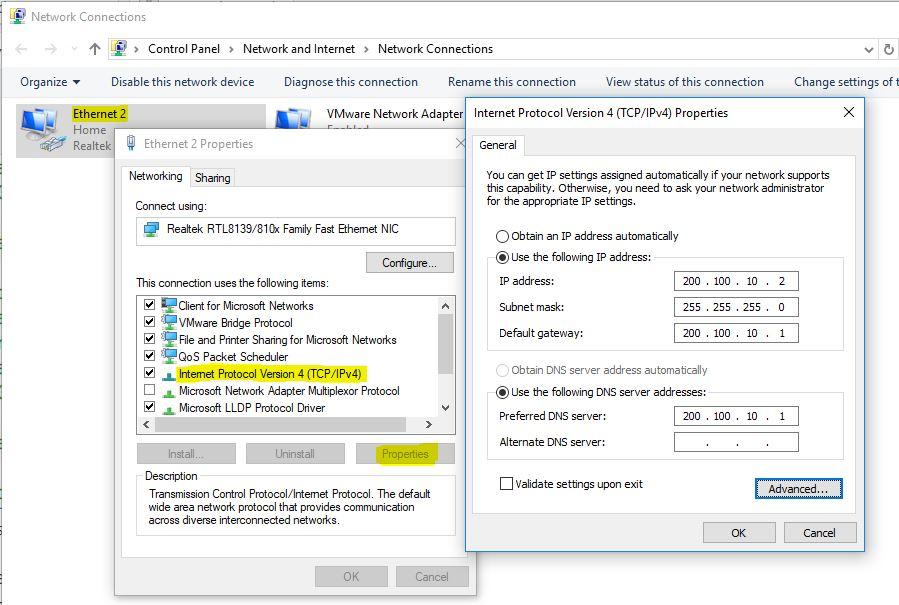 Configure Windows 10 IP address manually - Technig