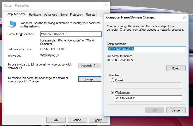 How to change Windows 10 computer name - Technig