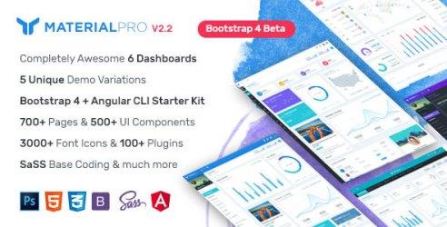 MaterialPro - Bootstrap 4 Admin Template + Angular CLI Starterkit