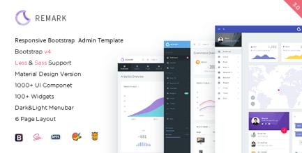 Remark - Responsive Bootstrap 4 Admin Template