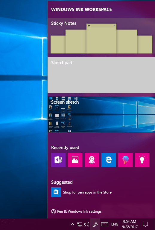 Windows ink Workspace - Teching