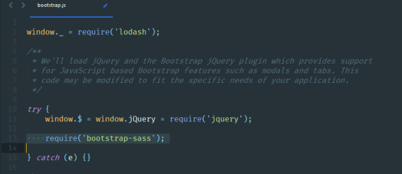 bootstrap 4 and laravel files