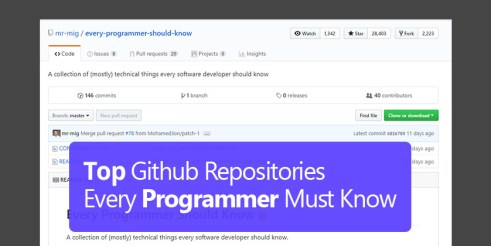 12 Best Github Repositories Every Programmer Must Star - Technig