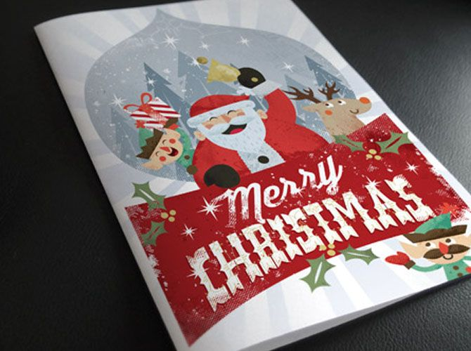 Christmas Card Invitation Template - Christmas Party Flyer Template - Technig