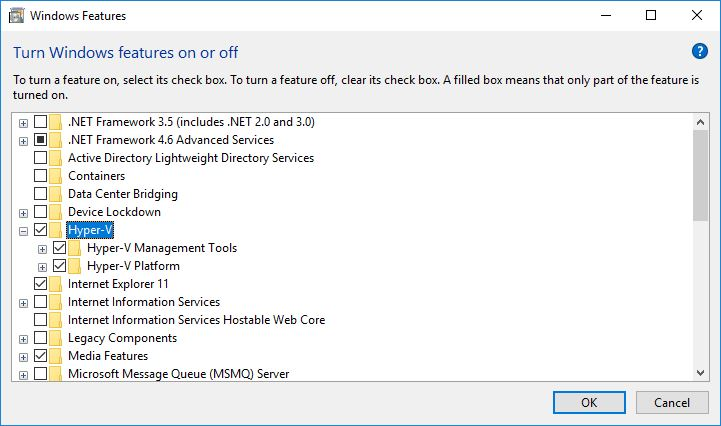 Enable and Configure Hyper-V on Windows 10 for Server Virtualization - Technig