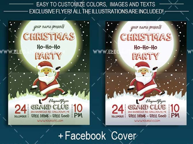 10 Best Free Christmas Party Flyer Template For 2017 Technig