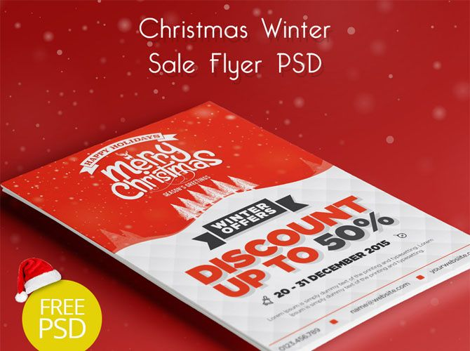 Free Christmas Sale Flyer - Technig
