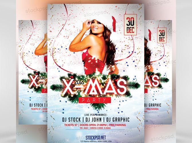Free Xmas Party Flyer - Technig