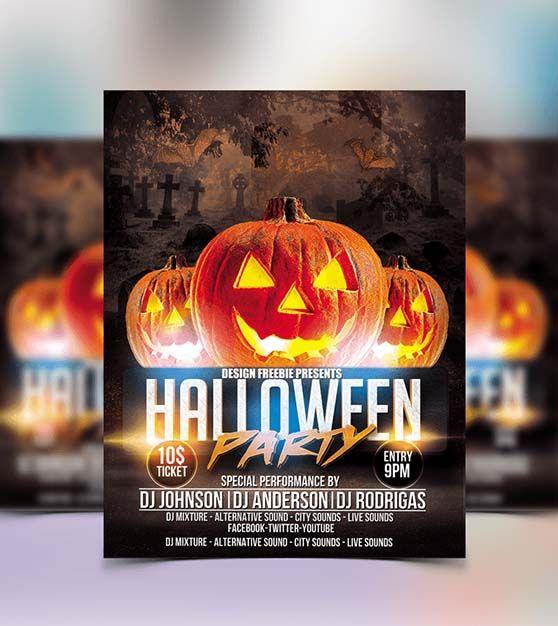 halloween template flyer