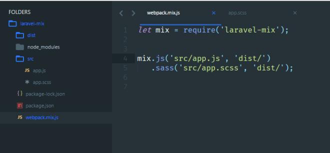 Laravel Mix Folder Structure