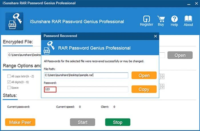 RAR Password Genius - Technig