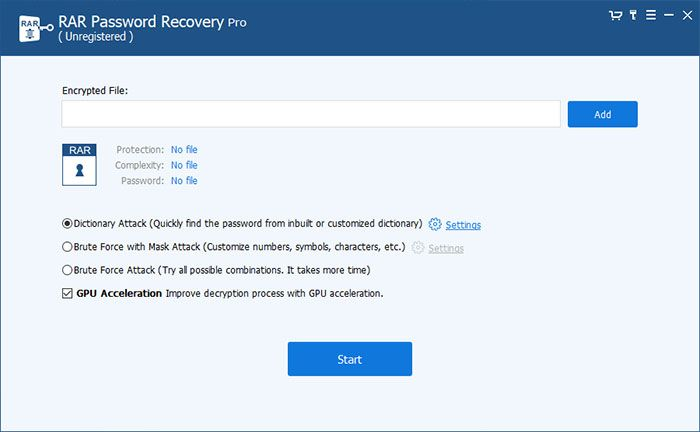 RAR Password Recovery - Technig
