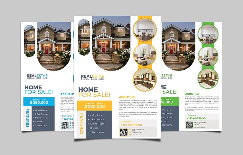 how to create real estate flyer design in photoshop technig