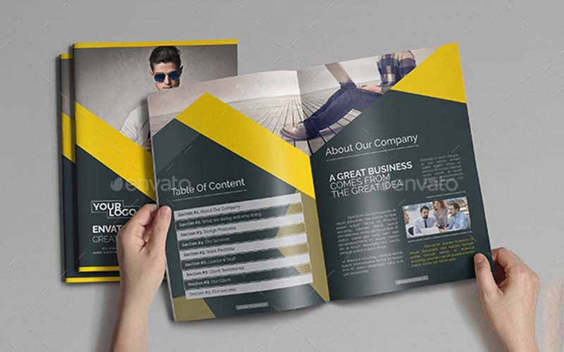 Yellow Business Brochure - Technig
