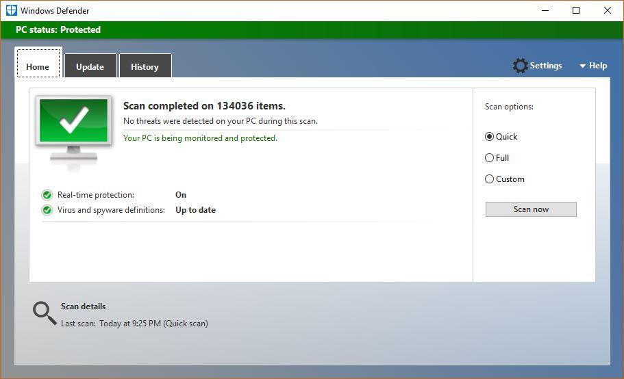 Windows Defender - Technig