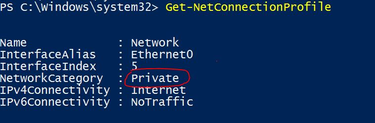 Change Private to Public Network In Windows 10