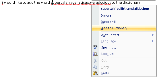 Add to Word dictionary - www.office.com/setup