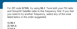 Sirius FM Channel Finder