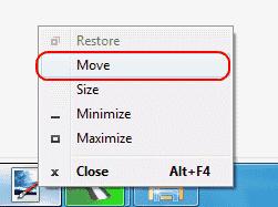 Windows option to Move window