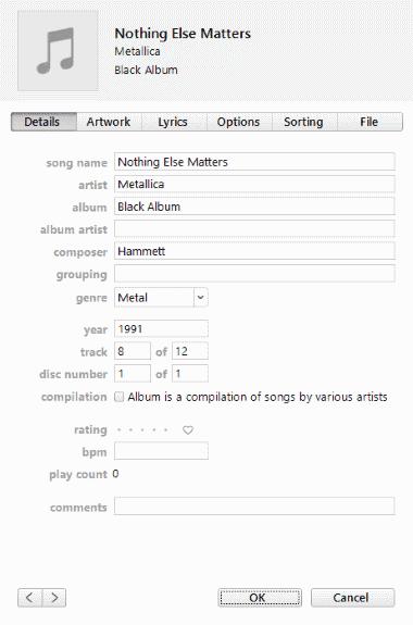 iTunes get info multiple