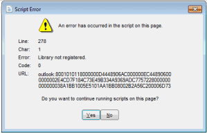 "Outlook 2013: ""Library Not Registered"" Error"