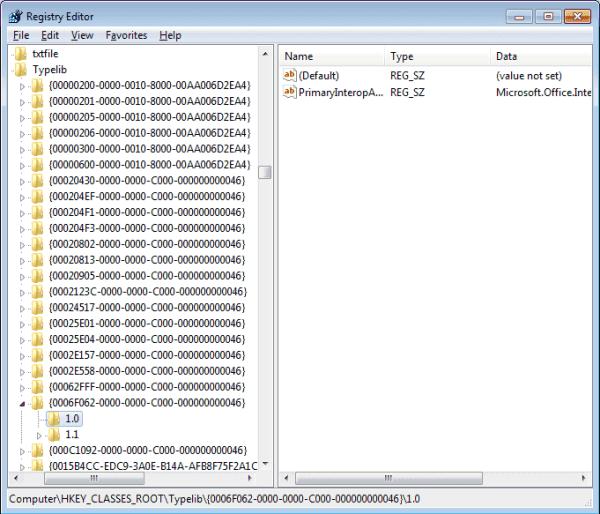 OutlookFix 1dot0 Delete
