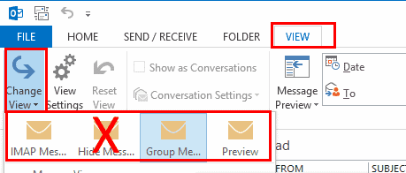 Outlook Change View Settings