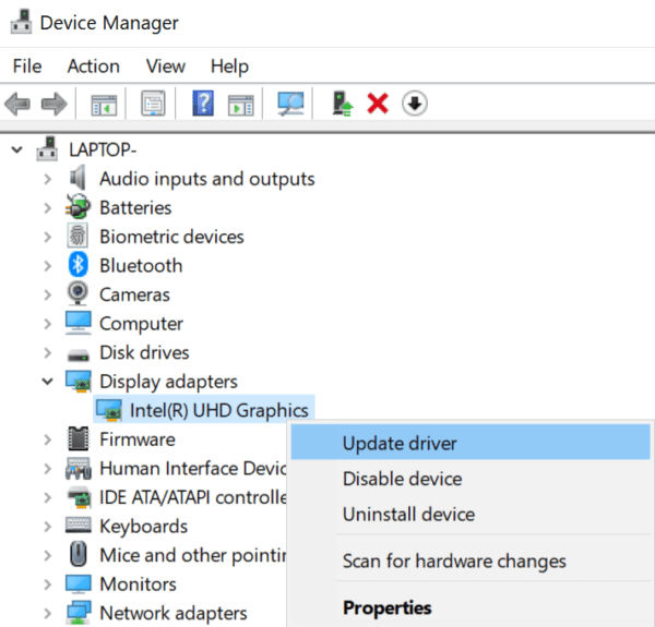 update display adapter driver