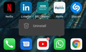 uninstall whatsapp android