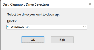 disk cleanup windows 10