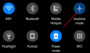 airplane mode android