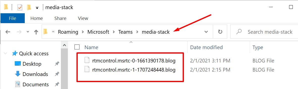 microsoft teams media stack files